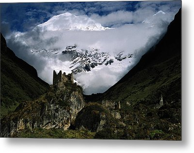 A Fortress Built To Repel Tibetan Metal Print by James L. Stanfield
