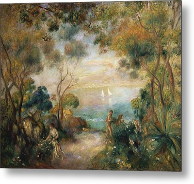 A Garden In Sorrento Metal Print by Pierre Auguste Renoir