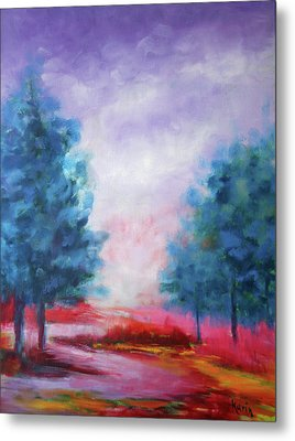 Metal Print featuring the painting A Glorious Day by Karin Eisermann