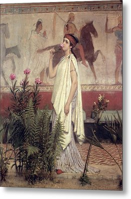 A Greek Woman Metal Print by Sir Lawrence Alma-Tadema