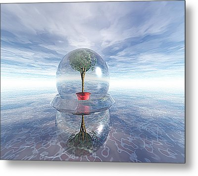 A Healing Environment Metal Print by Oscar Basurto Carbonell