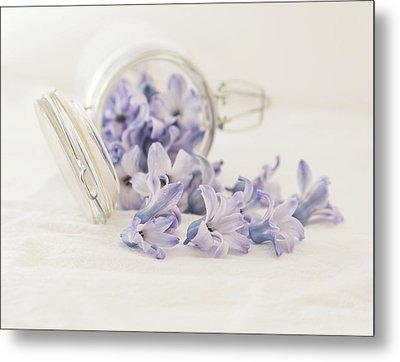 A Jar Of Purple Sweetness Metal Print by Kim Hojnacki