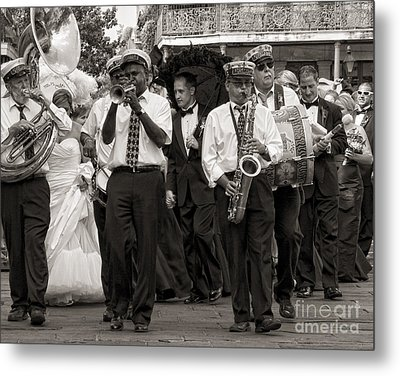 A Jazz Wedding In New Orleans Metal Print