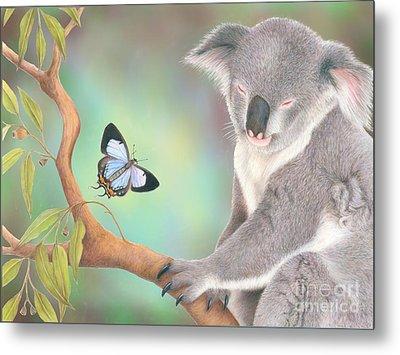 A Kiss For Koala Metal Print by Karen Hull