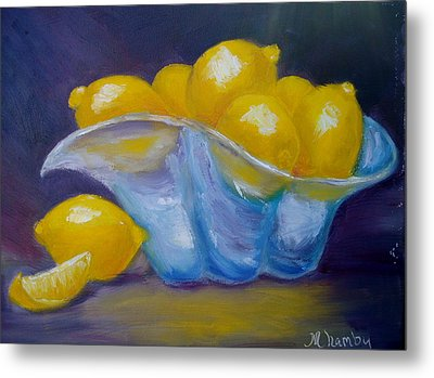 A Lemon Slice Metal Print
