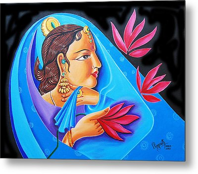 A Life  With Flowers Metal Print by Ragunath Venkatraman