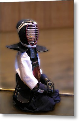 A Little Kendo Warrior Metal Print by Alexandra Jordankova