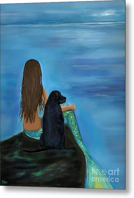 Metal Print featuring the painting A Loyal Buddy by Leslie Allen