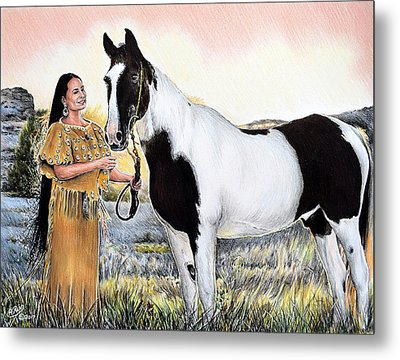 A Maiden And Spot A Special Bond Metal Print