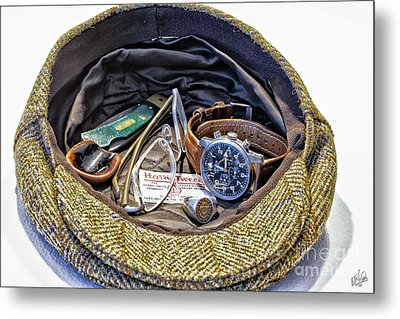 Metal Print featuring the photograph A Man's Items by Walt Foegelle
