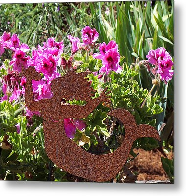 A Mermaid In My Garden Nb Metal Print