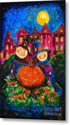A Merry Halloween Metal Print
