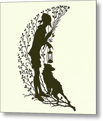 A Midsummer Night's Dream, Silhouette  Metal Print
