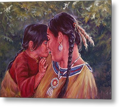 A Mother's Love Metal Print by Ed Breeding