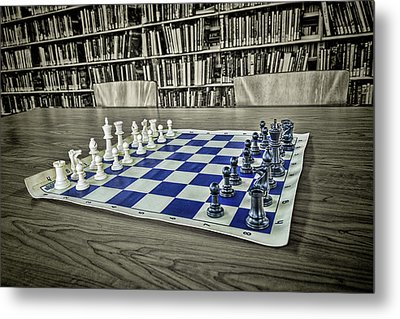 Metal Print featuring the photograph A Nice Game Of Chess by Lewis Mann