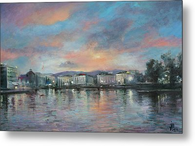 A Night At Geneva Metal Print by Vali Irina Ciobanu