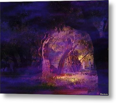 Metal Print featuring the photograph A Night Of Weeping In The Garden Gethsemane Israel 2008 by Anastasia Savage Ealy