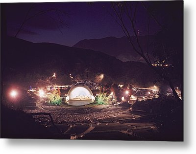 A Night Performance At The Hollywood Metal Print by B. Anthony Stewart