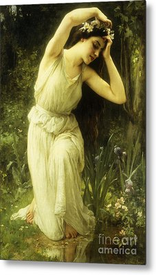 A Nymph In The Forest Metal Print