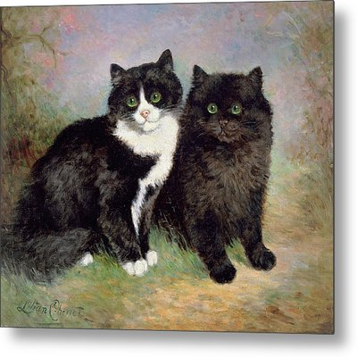 A Pair Of Pussy Cats Metal Print by Lilian Cheviot