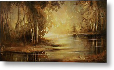A Quiet Moment Metal Print by Michael Lang