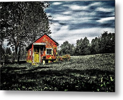 A Ruskin Shed Metal Print
