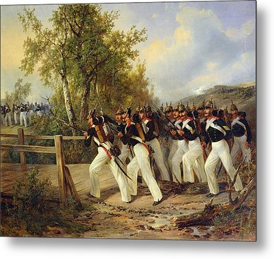 A Scene From The Soldier's Life Metal Print