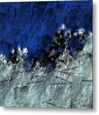 Metal Print featuring the digital art A Sea Storm In My Heart by Silvia Ganora