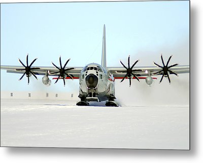 A Ski-equipped Lc-130 Hercules Metal Print by Stocktrek Images