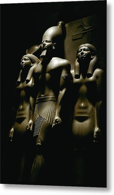 A Statue Of Pharoh Menkaura Metal Print by Kenneth Garrett