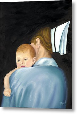 Comforting A Tradition Of Nursing Metal Print by Marlyn Boyd