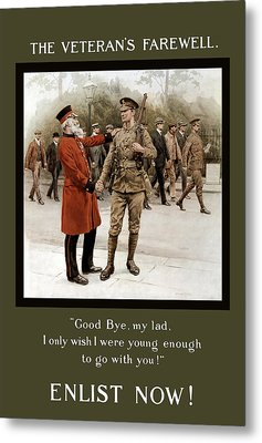 A Veteran's Farewell - Ww1 Metal Print by War Is Hell Store