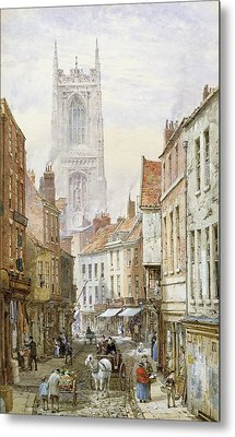 A View Of Irongate Metal Print by Louise J Rayner