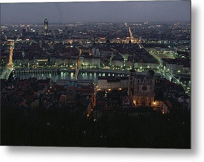 A View Of Lyon Between The Pont De La Metal Print by James L. Stanfield