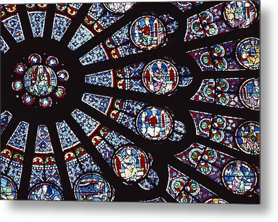 A View Of The Famed Rose Window Metal Print