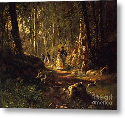 A Walk In A Forest, 1869  Metal Print