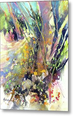 A Walk In The Forest Metal Print by Rae Andrews