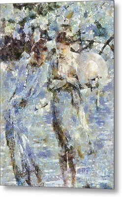 A Walk In The Park Metal Print by Shirley Stalter