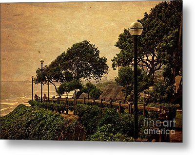 Metal Print featuring the photograph A Walk On The Edge - Peru by Mary Machare