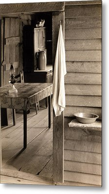 A Washstand In The Dog Run And View Metal Print by Everett