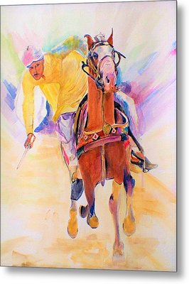 A Win Metal Print by Khalid Saeed