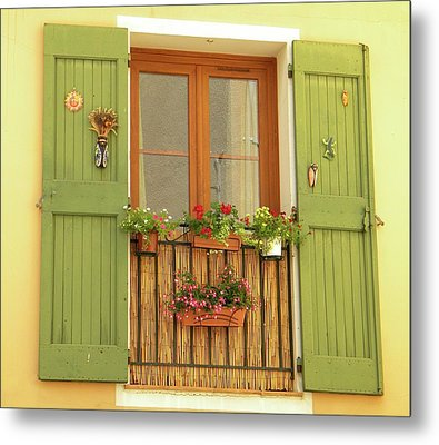 A Window To...provence Metal Print by Manuela Constantin