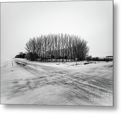 A Winter Farm Metal Print