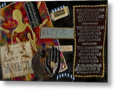 A Woman With Purpose Metal Print by Angela L Walker