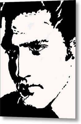 Metal Print featuring the drawing A Young Elvis by Robert Margetts