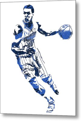 Aaron Gordon Orlando Magic Pixel Art 1 Metal Print
