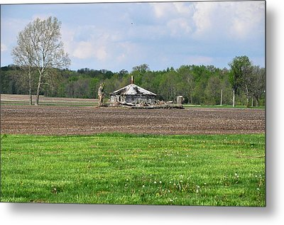 Metal Print featuring the photograph Abandoned Farmhouse by John Black