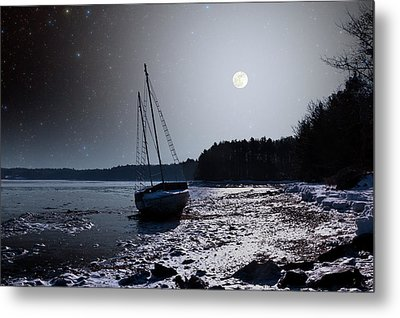 Metal Print featuring the photograph Abandoned Sailboat by Larry Landolfi