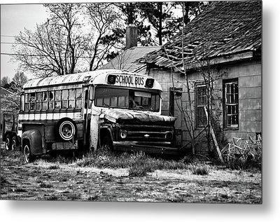 Abandoned School Bus Metal Print by Trish Tritz