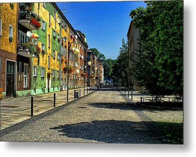 Metal Print featuring the photograph Abandoned Street by Mariola Bitner